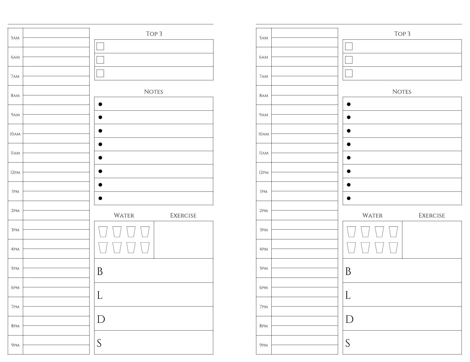 Free Printables | Bullet Journal | Weekly Planner Printable