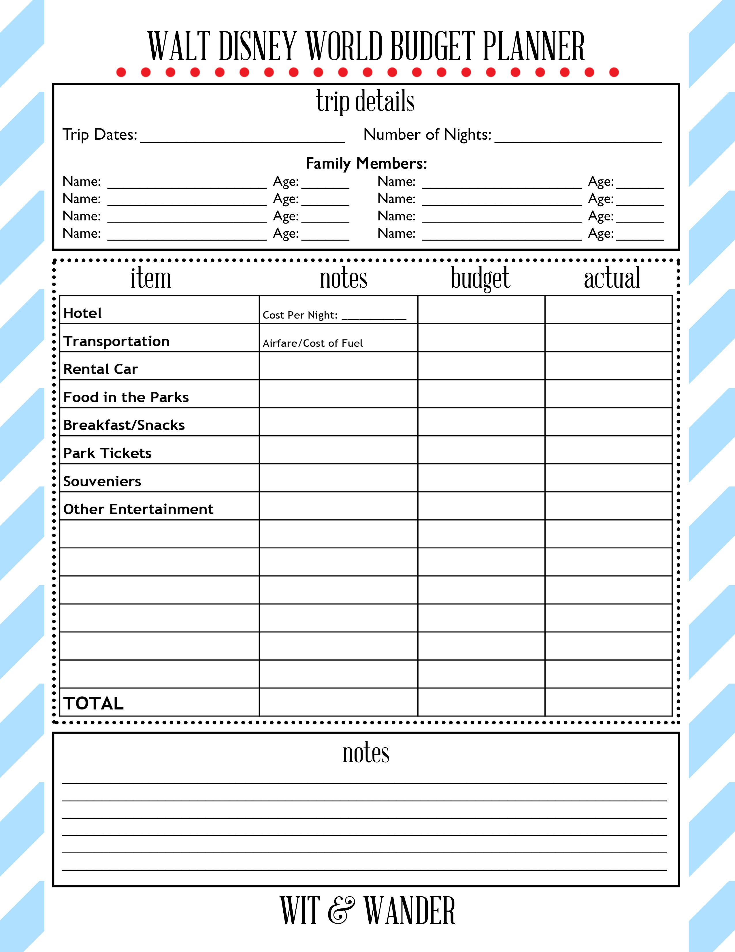 Free Printables   Disney Parks! In 2019   Disney On A Budget