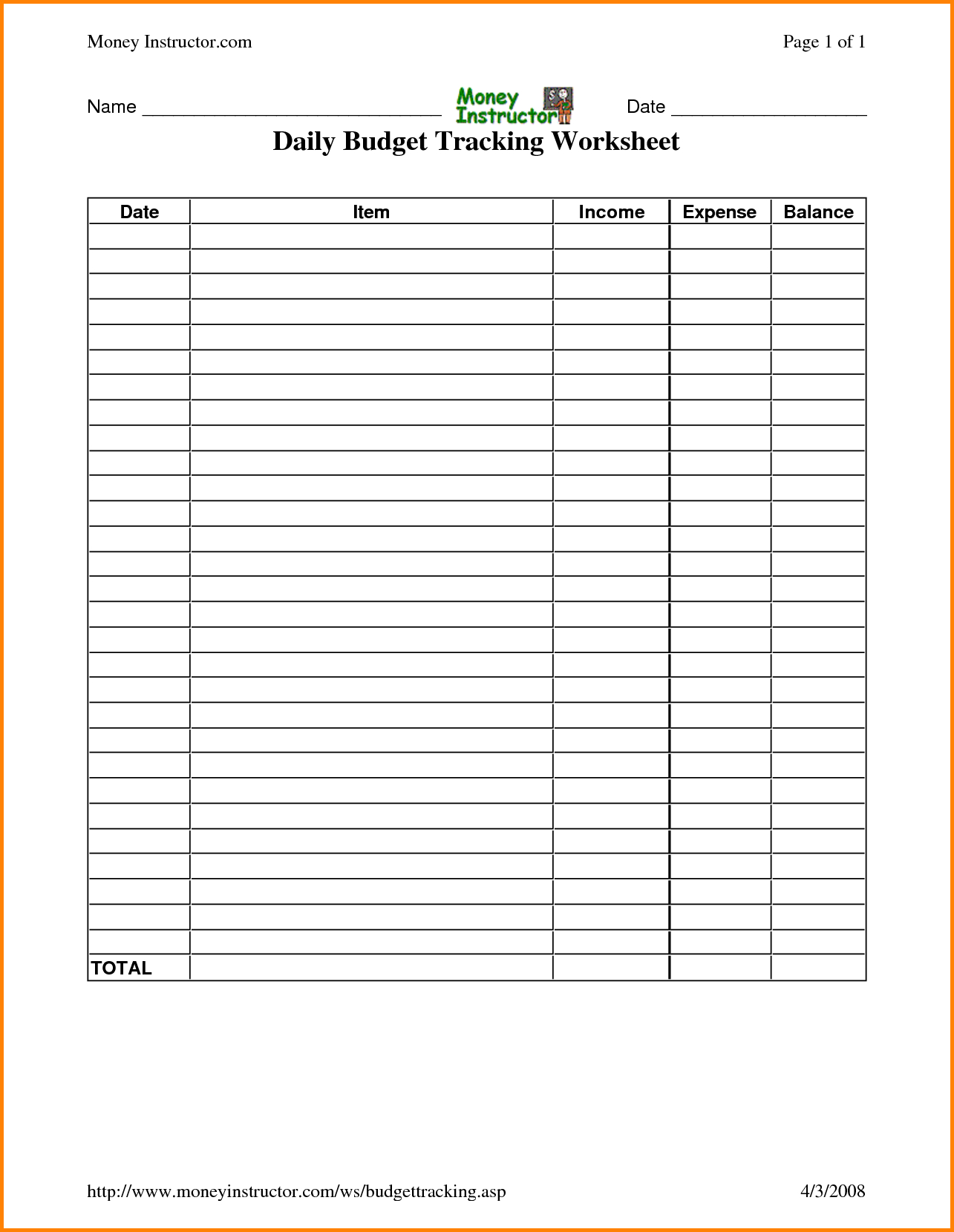 Free Template To Keep Track Of Expenses Best Excel