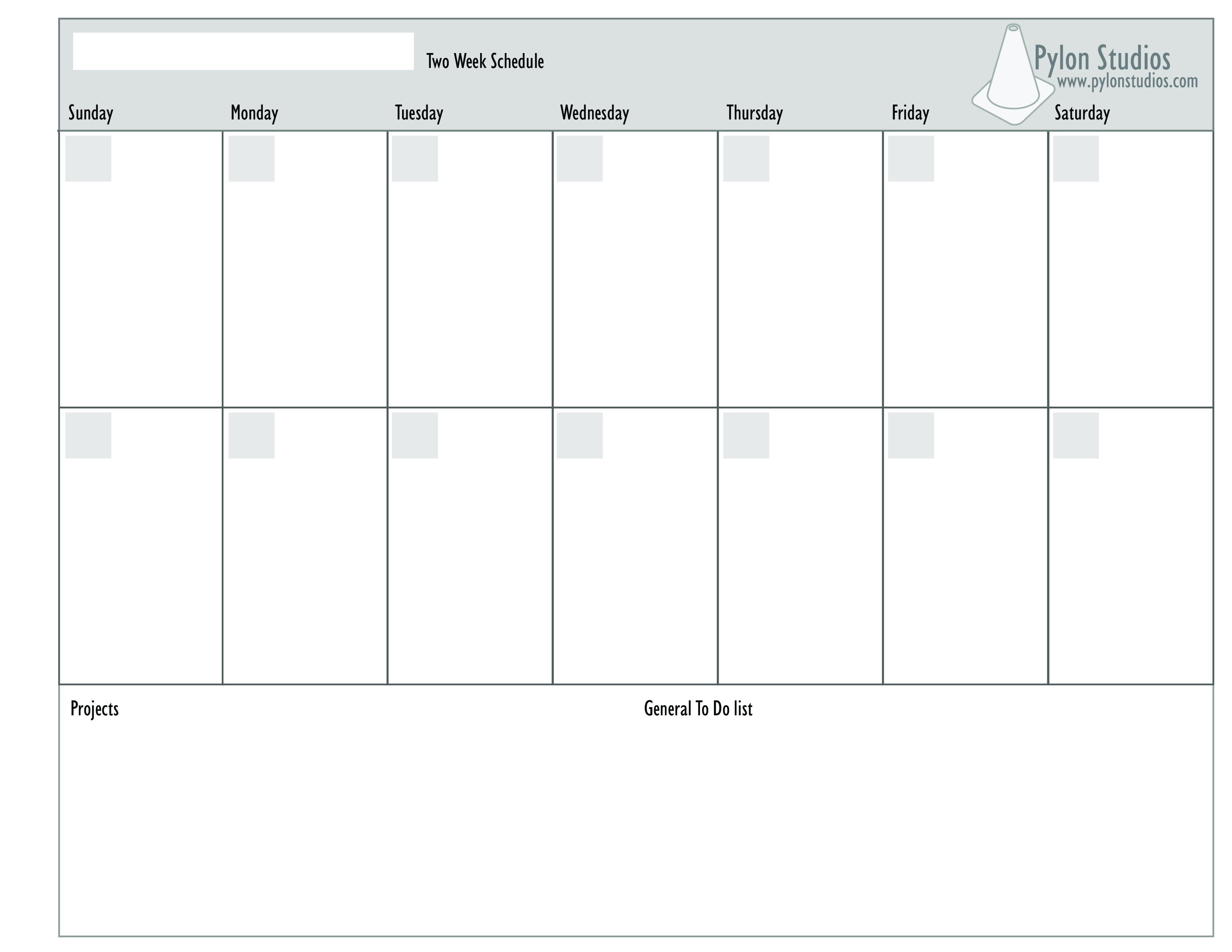 Free Week Calendar Templates At Allbusinesstemplates Com