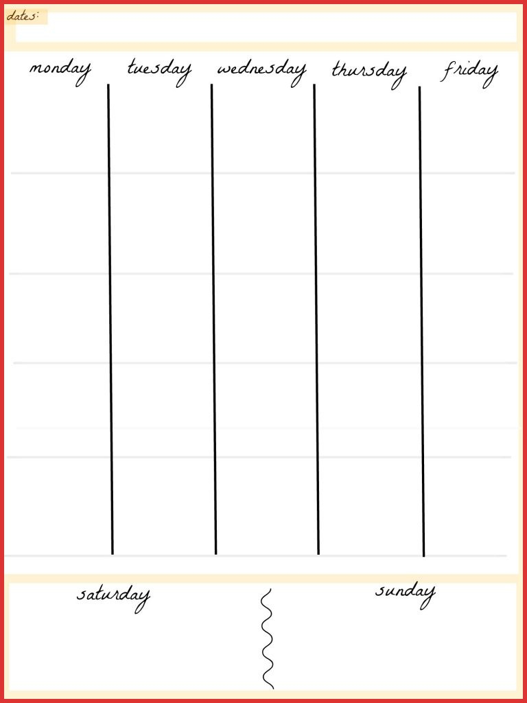 Fresh 5 Day Calendar Template | Job Latter