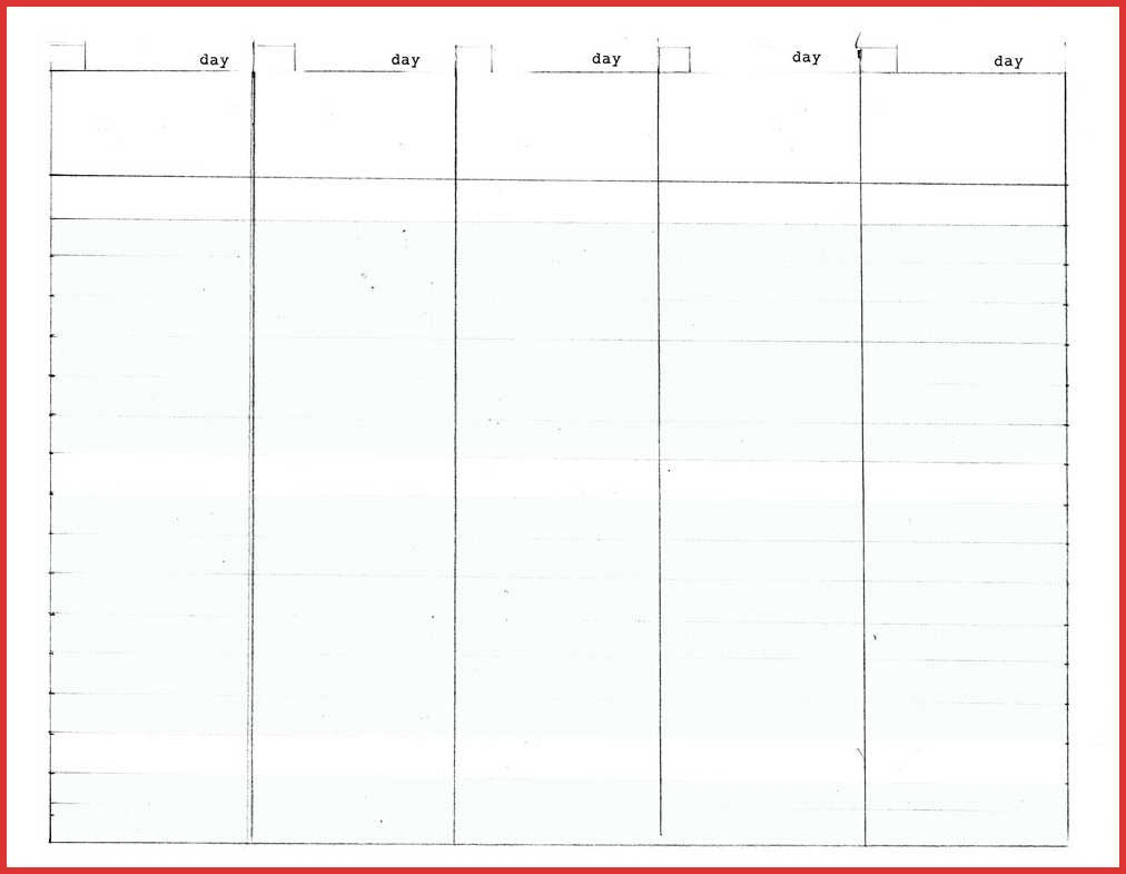 Fresh 5 Day Calendar Template | Job Latter