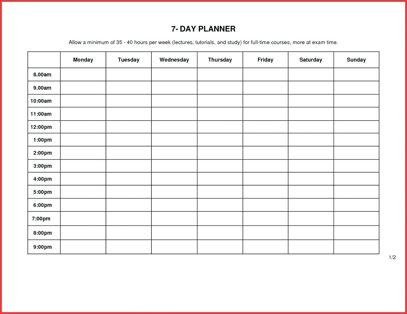 Full Size Of Schedule Template Printable Daily Planner