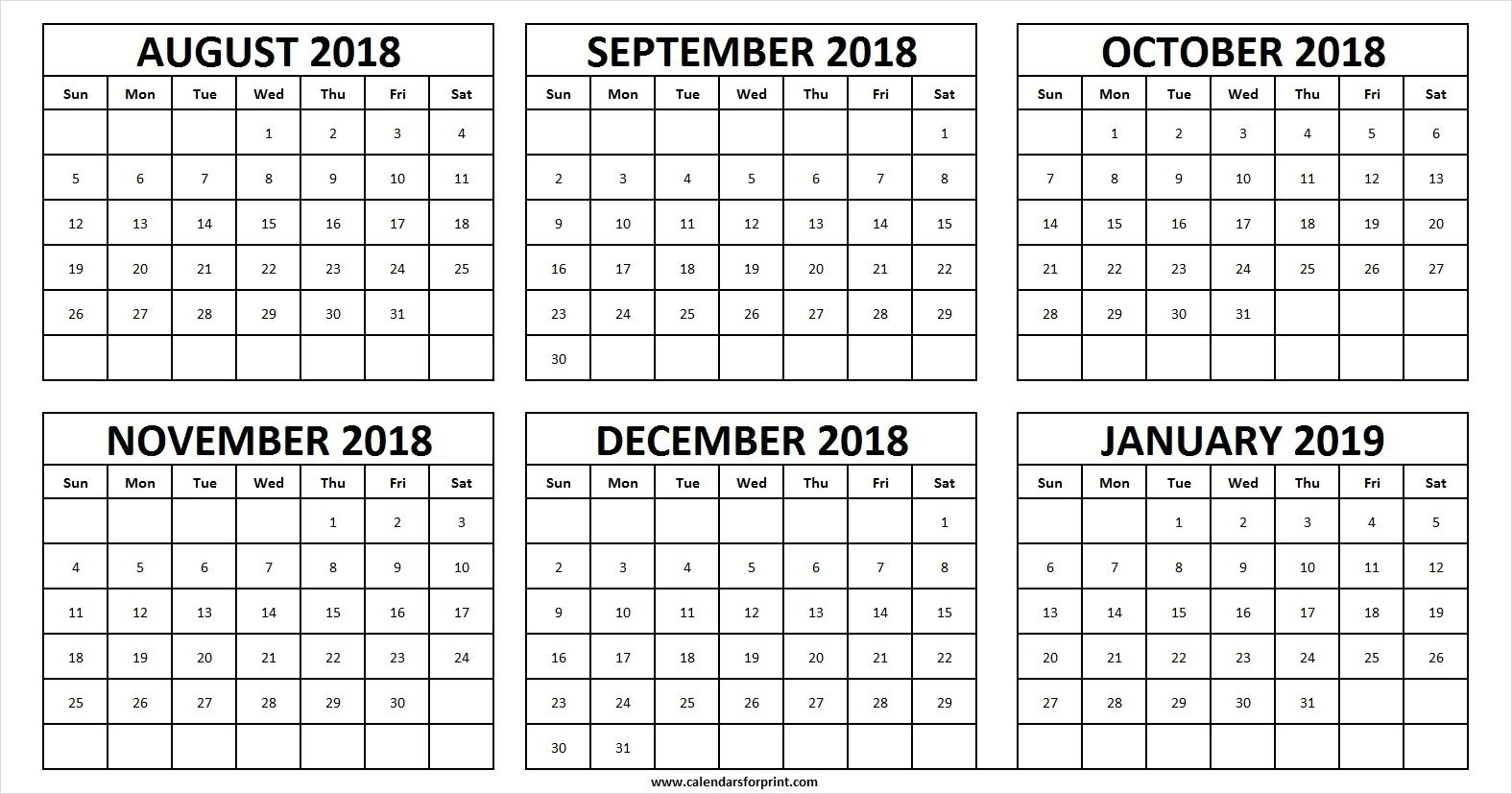 Get August Through December 2019 Calander ⋆ The Best