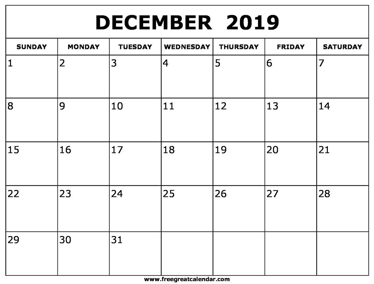Get Blank Calendar Oct Nov Dec 2019 ⋆ The Best Printable