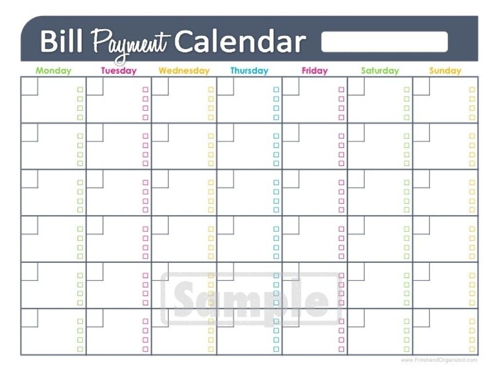 Get Blank Monthly Bill Organizer Printable ⋆ The Best