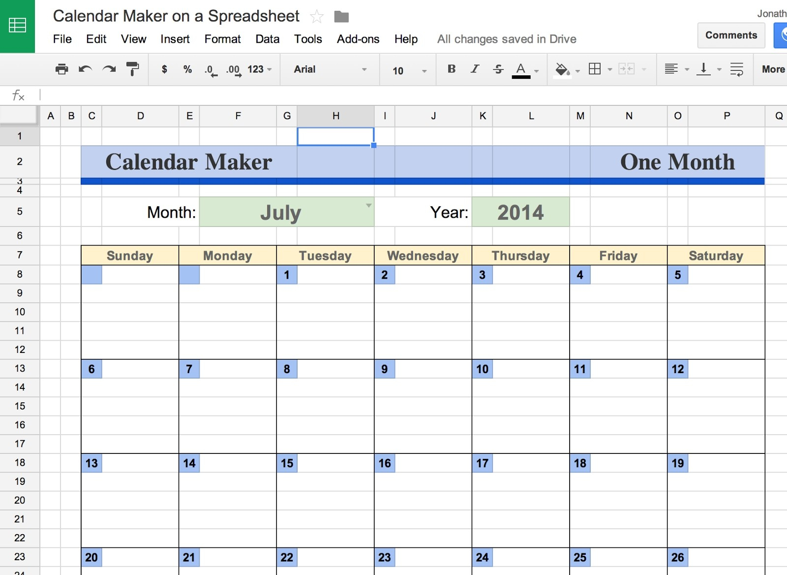 Google Docs Calendar Template Spreadsheet Best Business