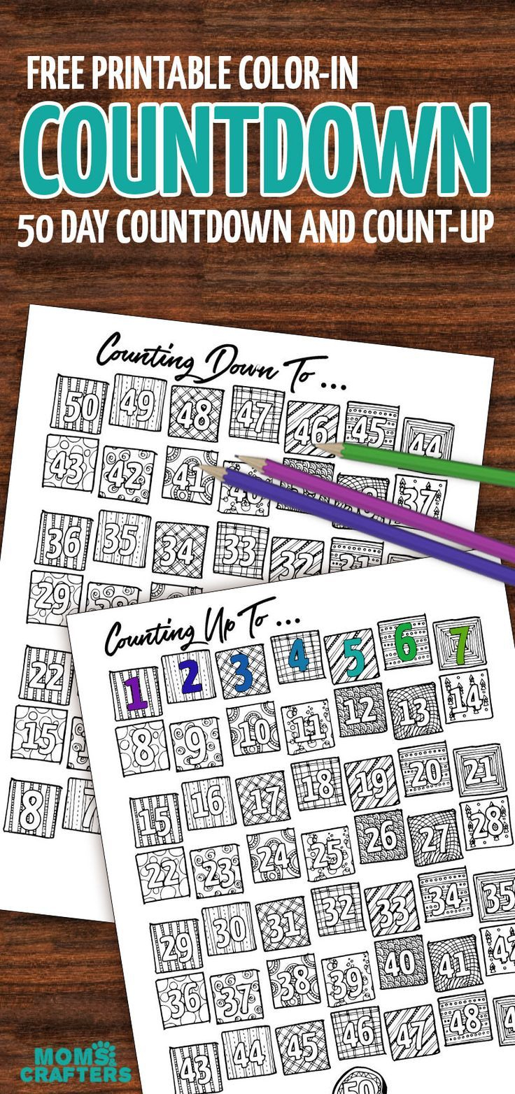 Grab This Fun Color-In Countdown And Progress Tracker