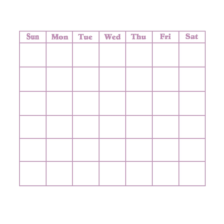 Grid Of 31 Days Image | Calendar Printing Example
