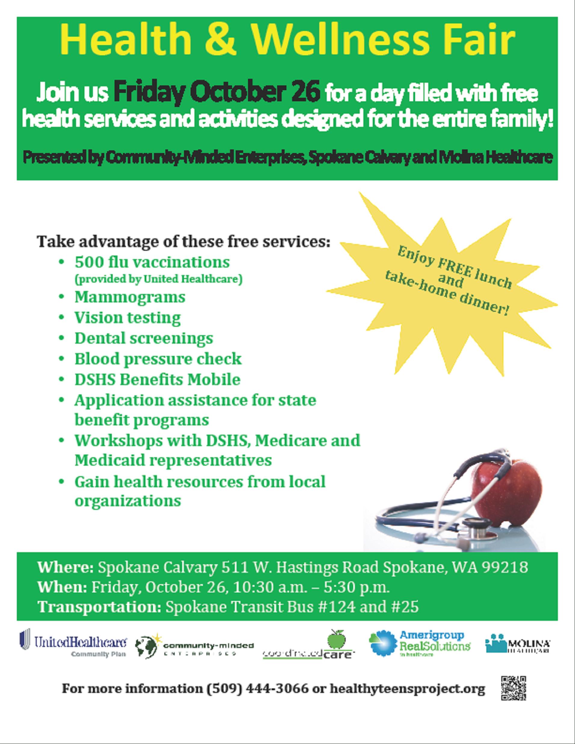 Health And Wellness Fair Flyer | Health Fair | Health Fair