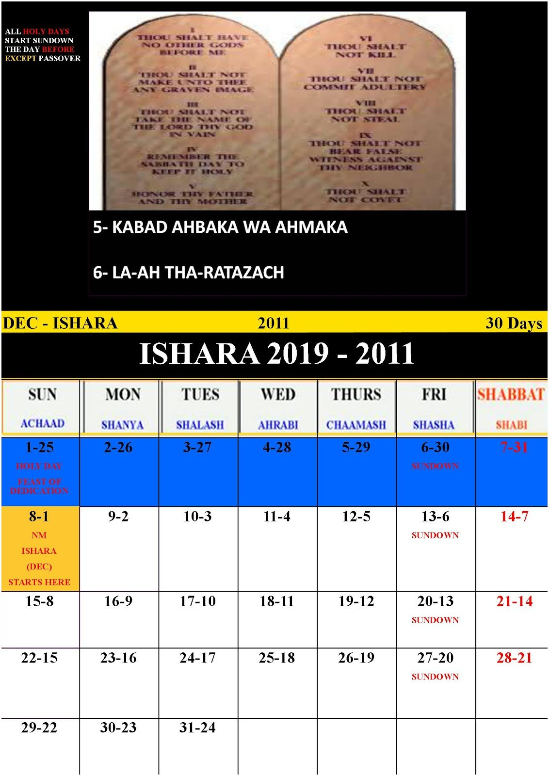 Hebrew Calendar 2019 To Download Or Print | Americanwomanmag