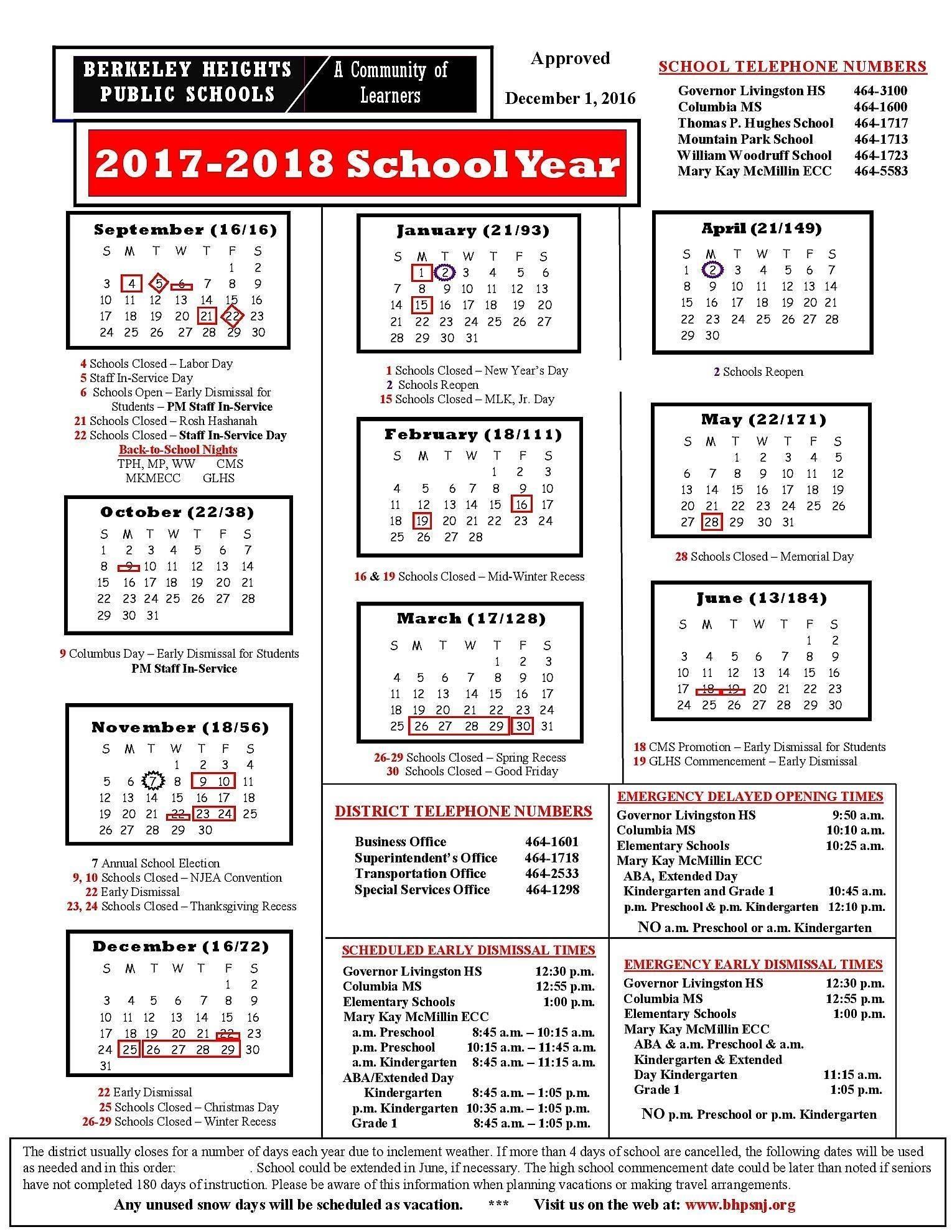 Hillsborough County School Calendar 2018-19 Download For
