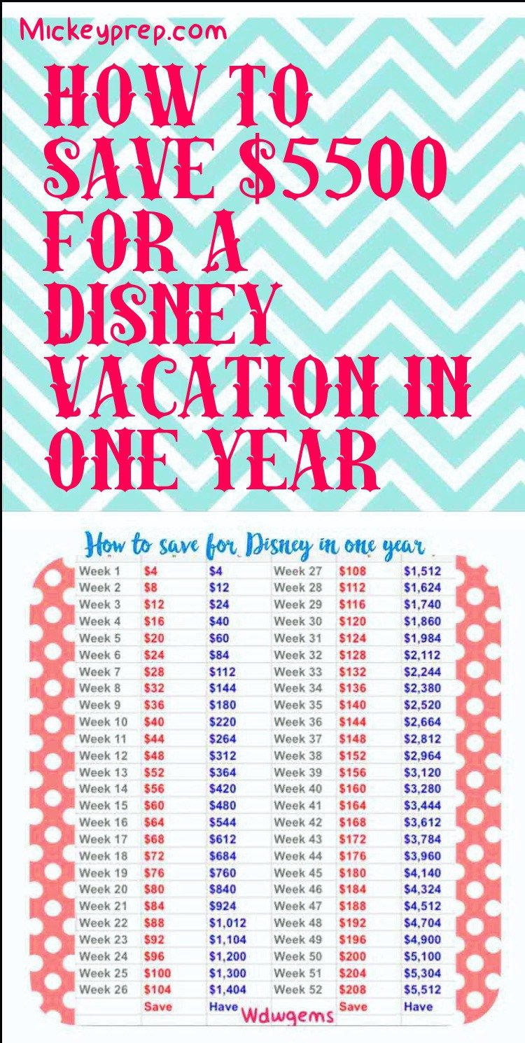 How To Save And Budget For Disney In One Year - | Walt