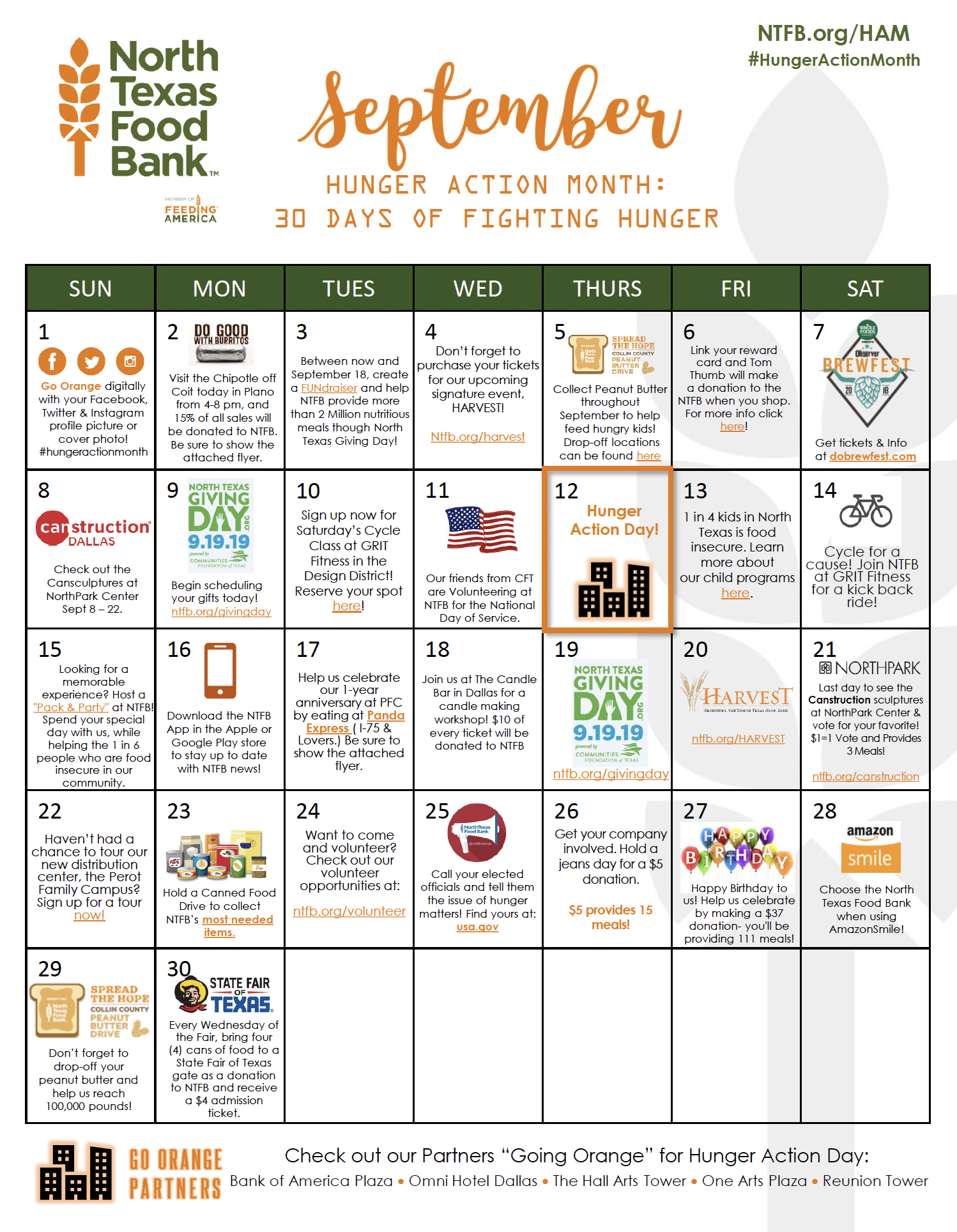 Hunger Action Month - Event & Campaign - North Texas Food Bank
