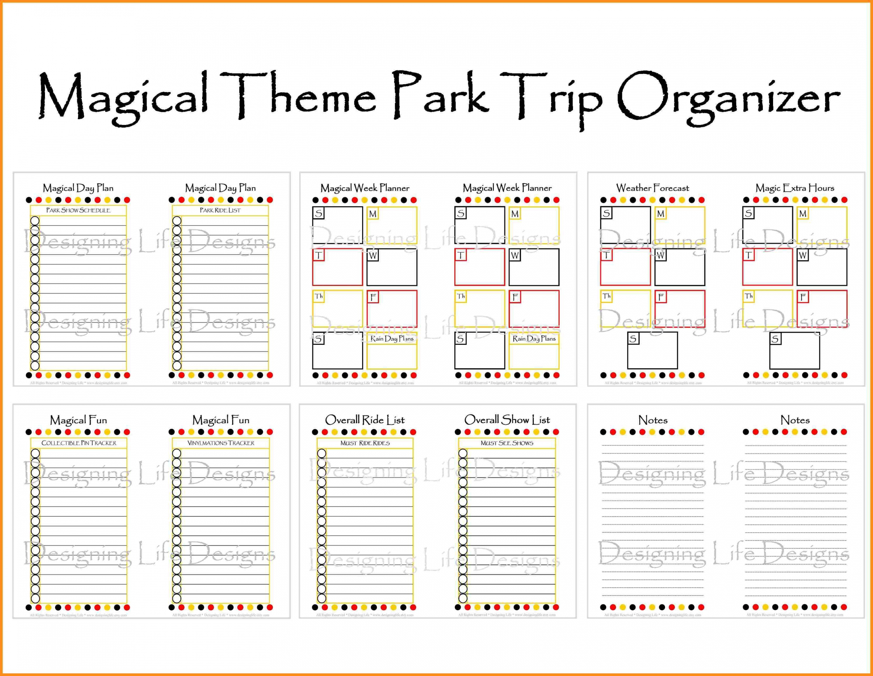 Image Result For Disney World Itinerary Template Disney Fun