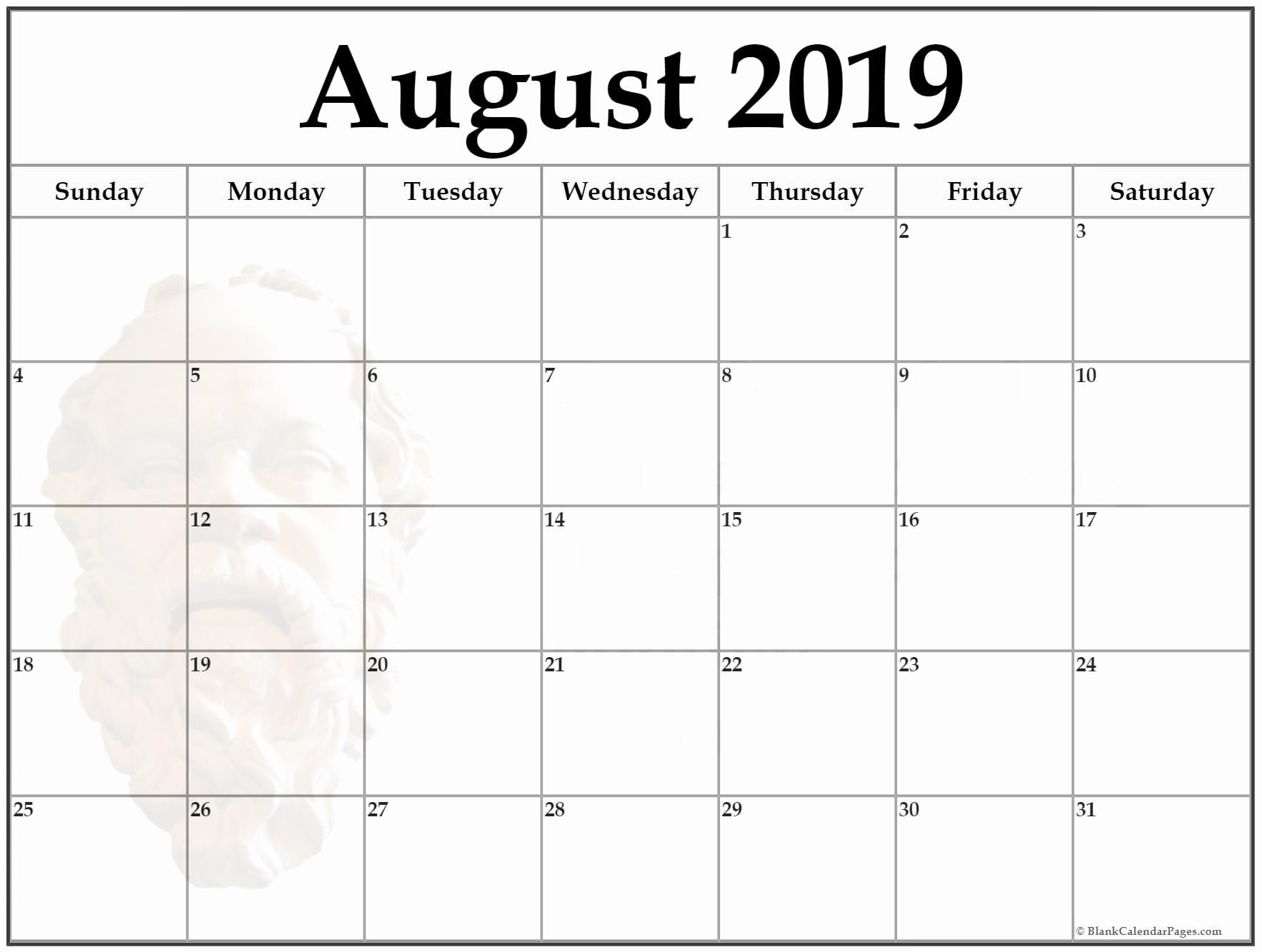 Inspirational 30 Design August 2019 Calendar Template 2