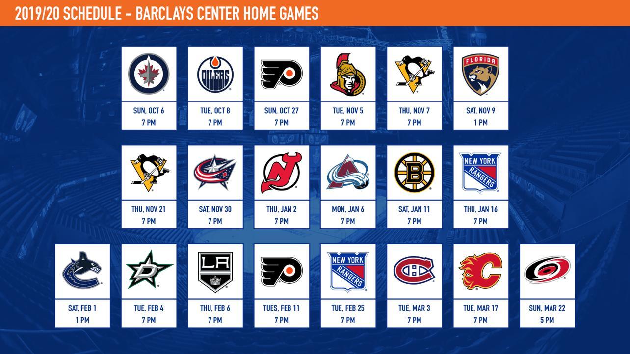 Islanders Announce 2019-20 Schedule