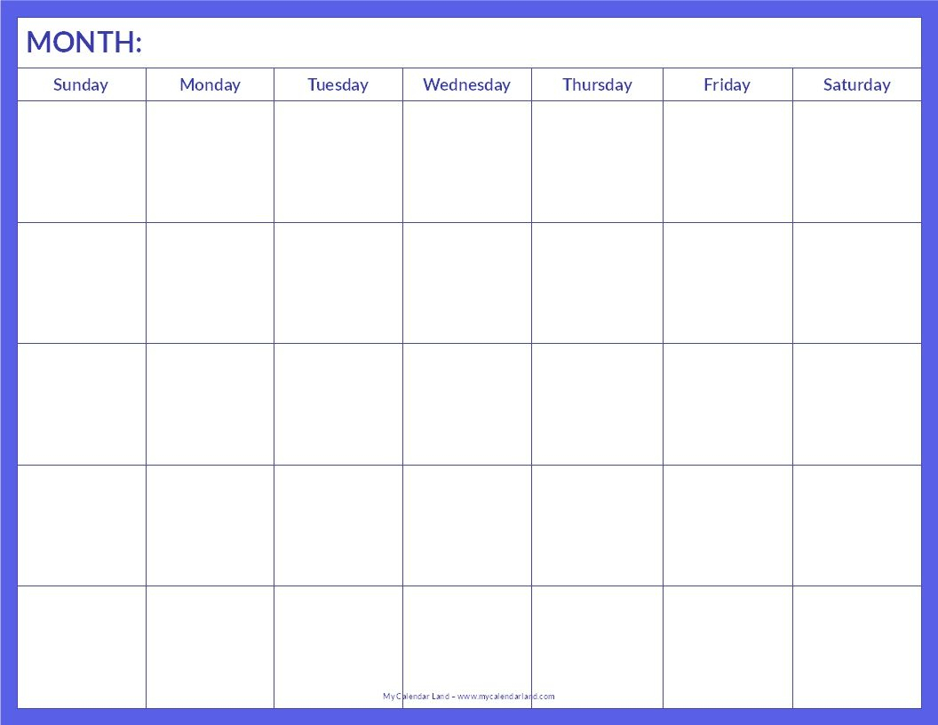 January 2015 Calendar Template Printable Blank Calendar Page