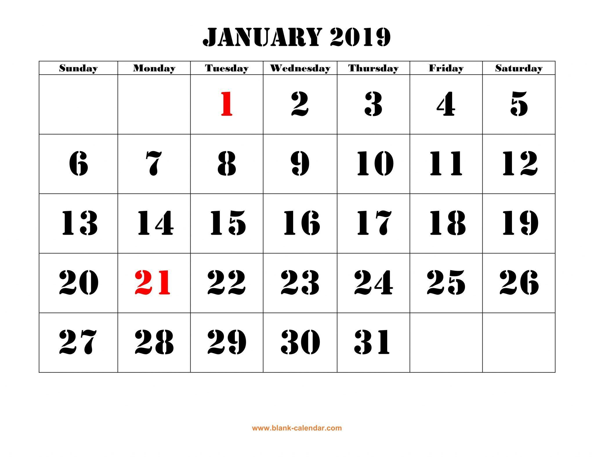 January 2019 Calendar Philippines | January 2019 Calendar