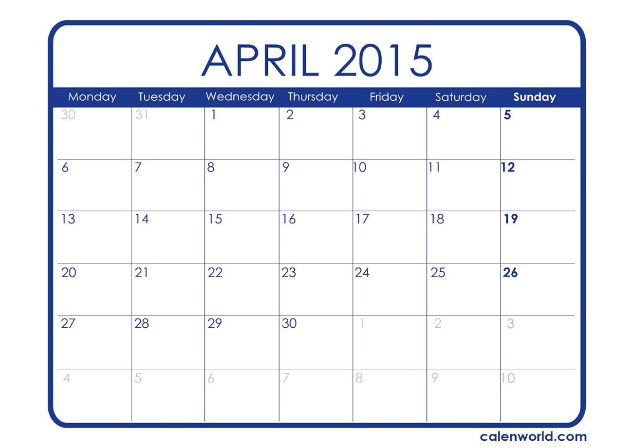 Jewish Calendar April 2015 | Jcreview