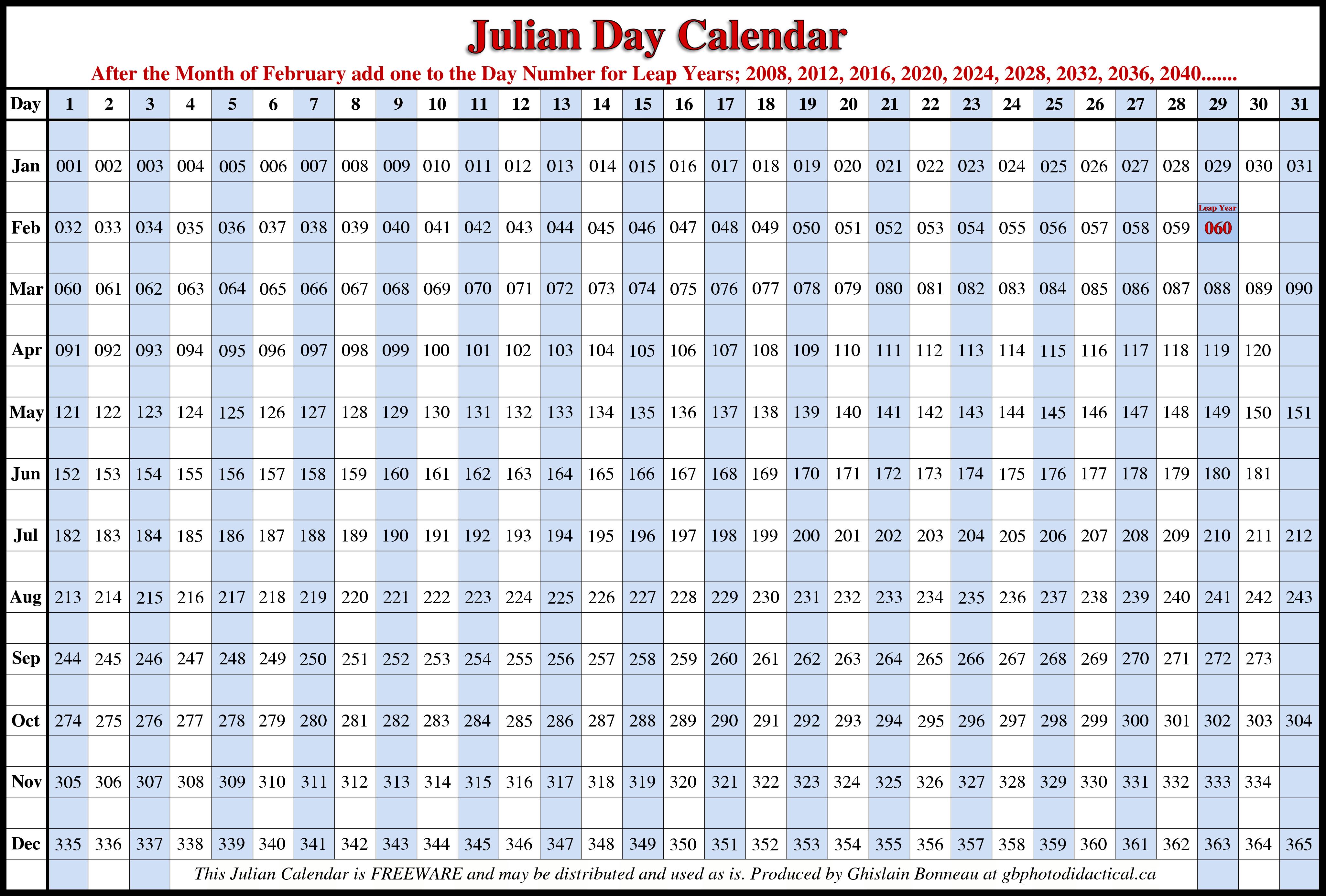Julian Calendar 2016 | Free Calendar 2017 | Calendars