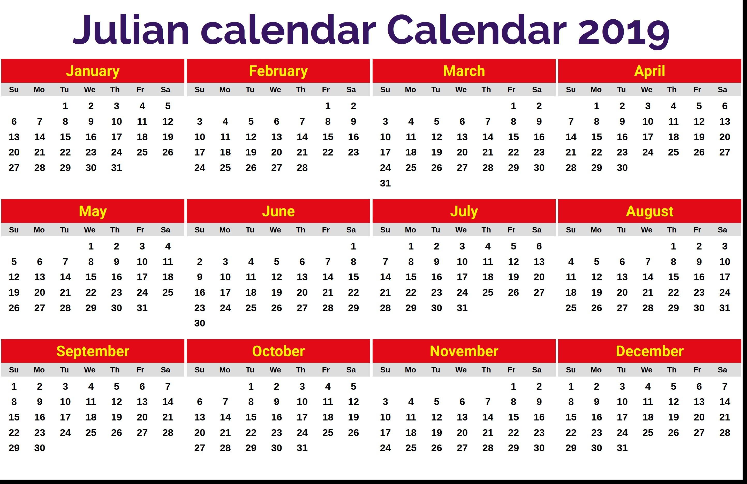 Julian Date Calendar 8 2889X1874 - Bi-Brucker-Holz.de Frisch