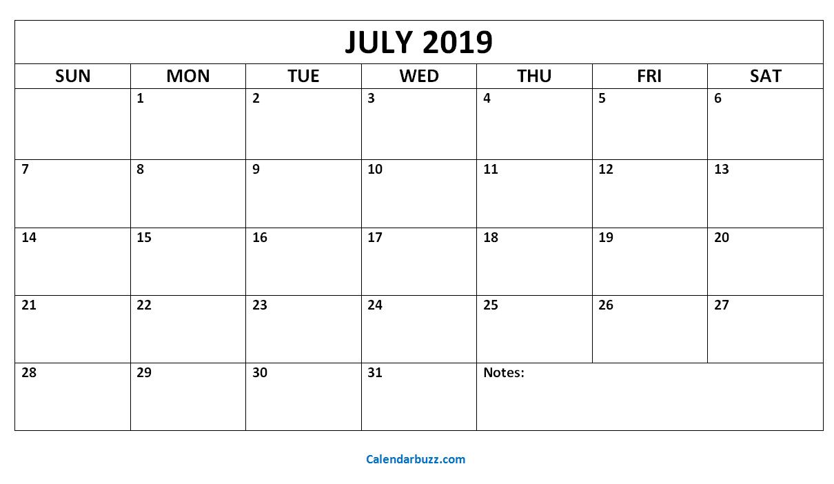 July August September 2019 Calendar | July Month Calendar