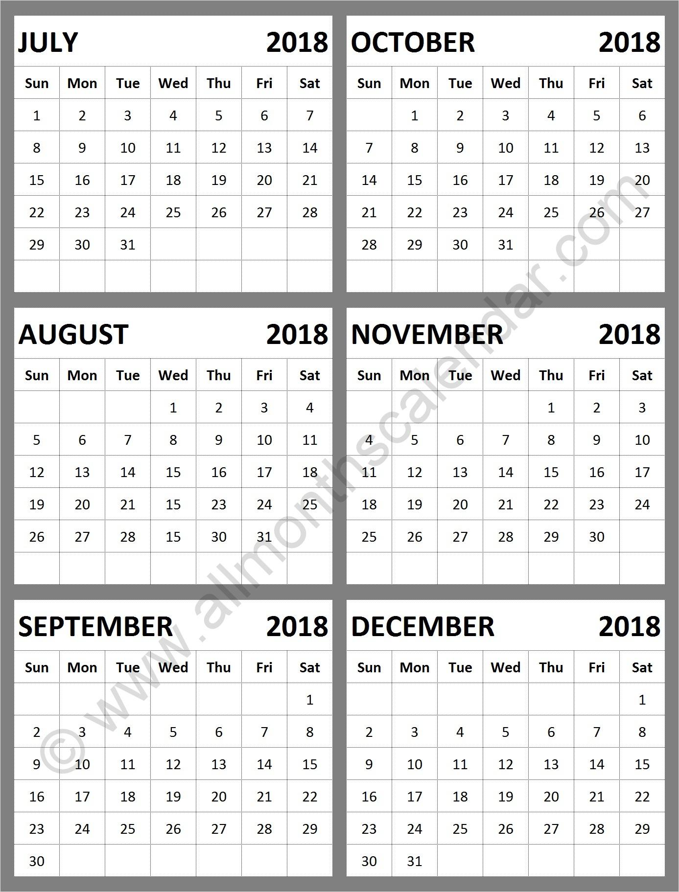 July August September October November December 2018