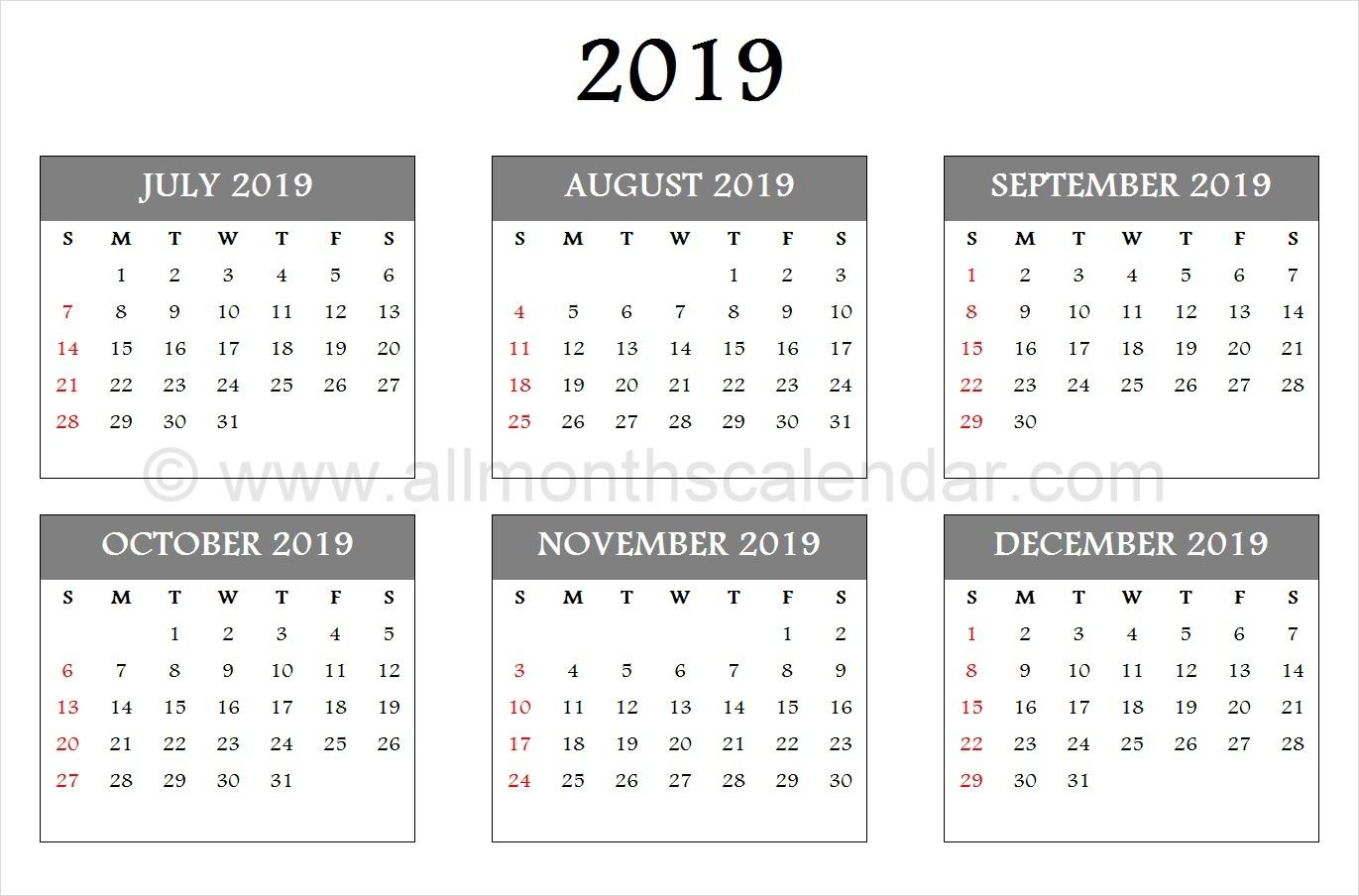 July August September October November December 2019