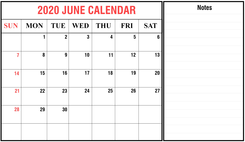 June 2020 Calendar Excel – Artofit