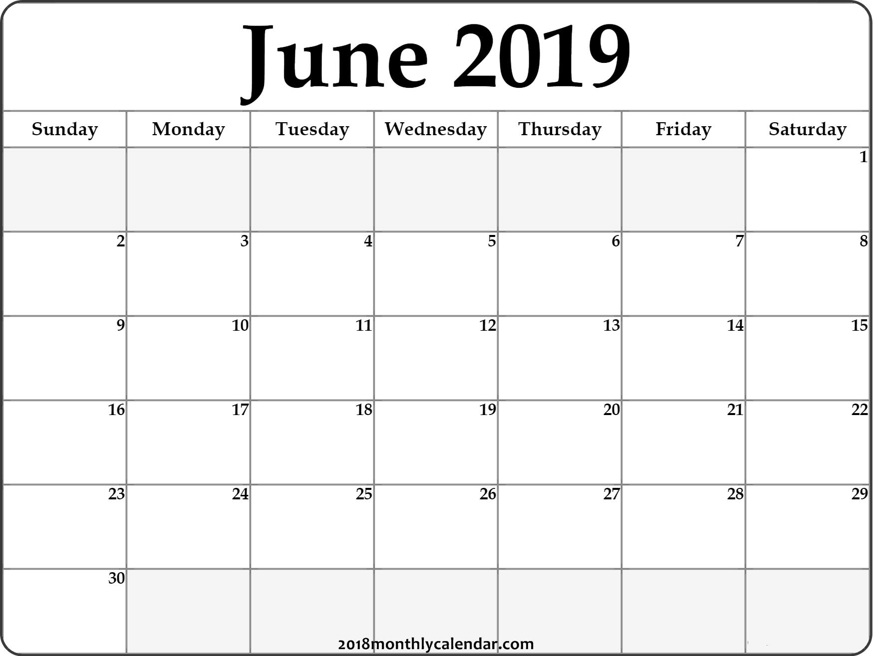 June Calendar 2019 #june #2019Calendar #june2019