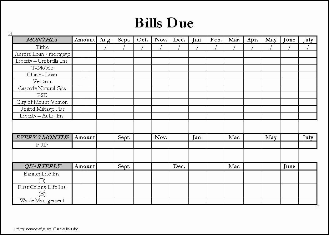Keeping Track Of Bills Excel Of Spreadsheet To Keep Track