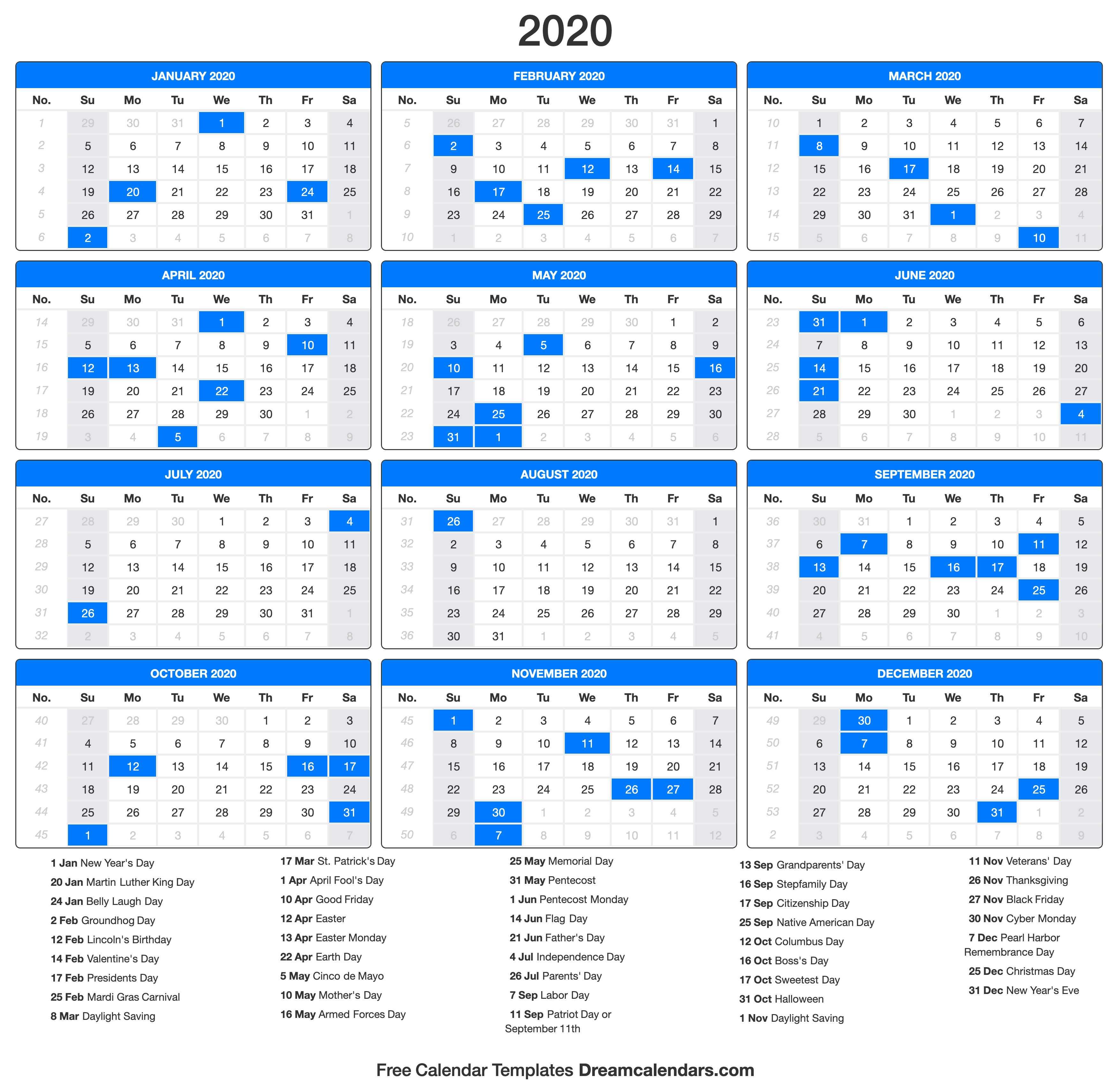 Ko-Fi - Printable 2020 Calendar - Ko-Fi ❤️ Where Creators