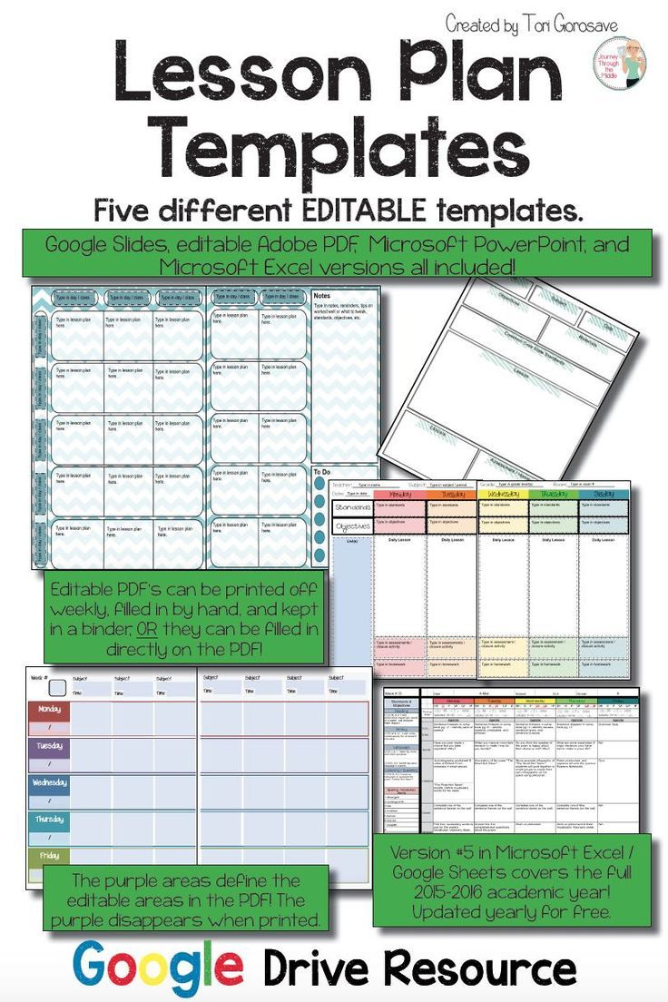 Lesson Plan Template Google Docs Free