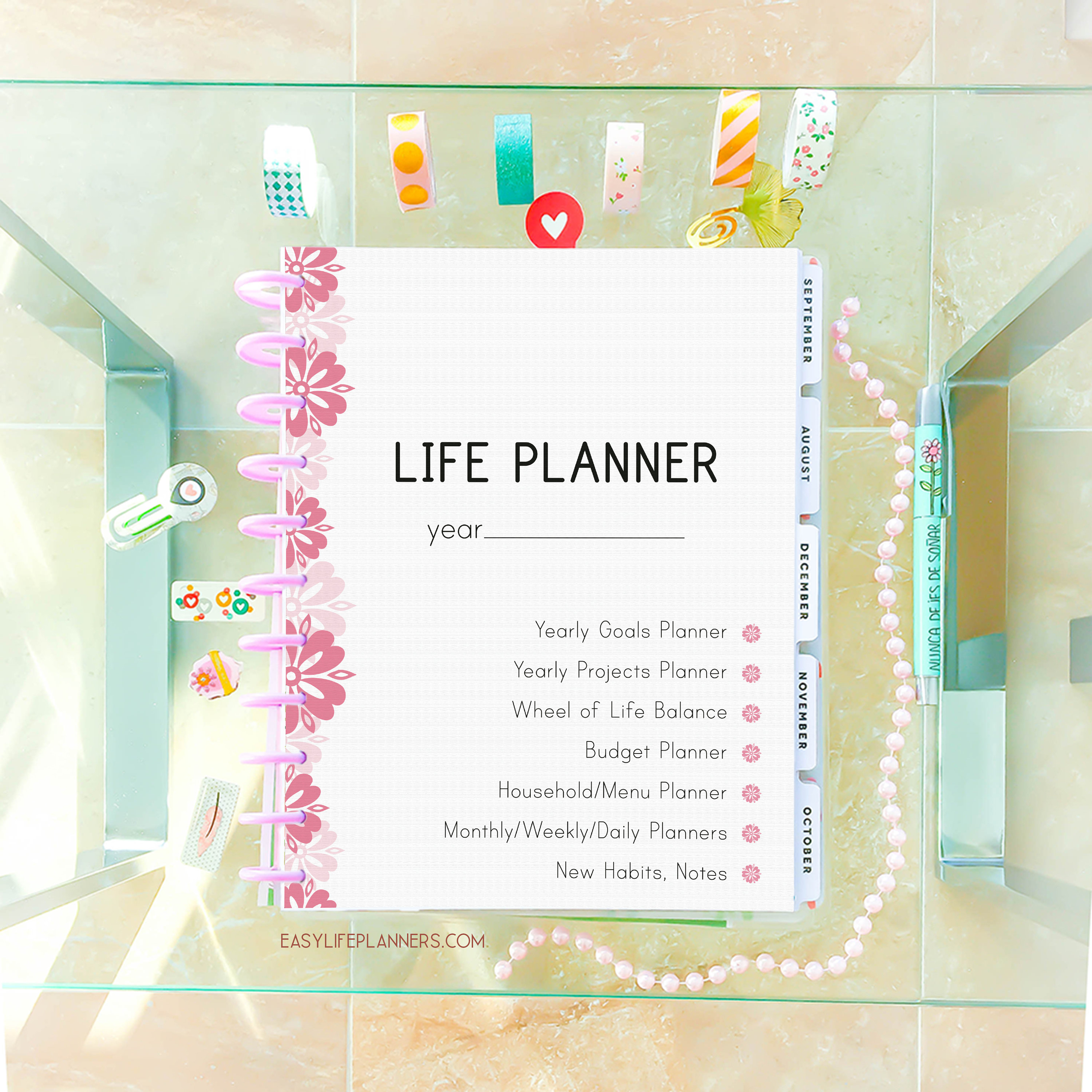 Life Planner 2020 Printable Planner Pages, Daily Planner