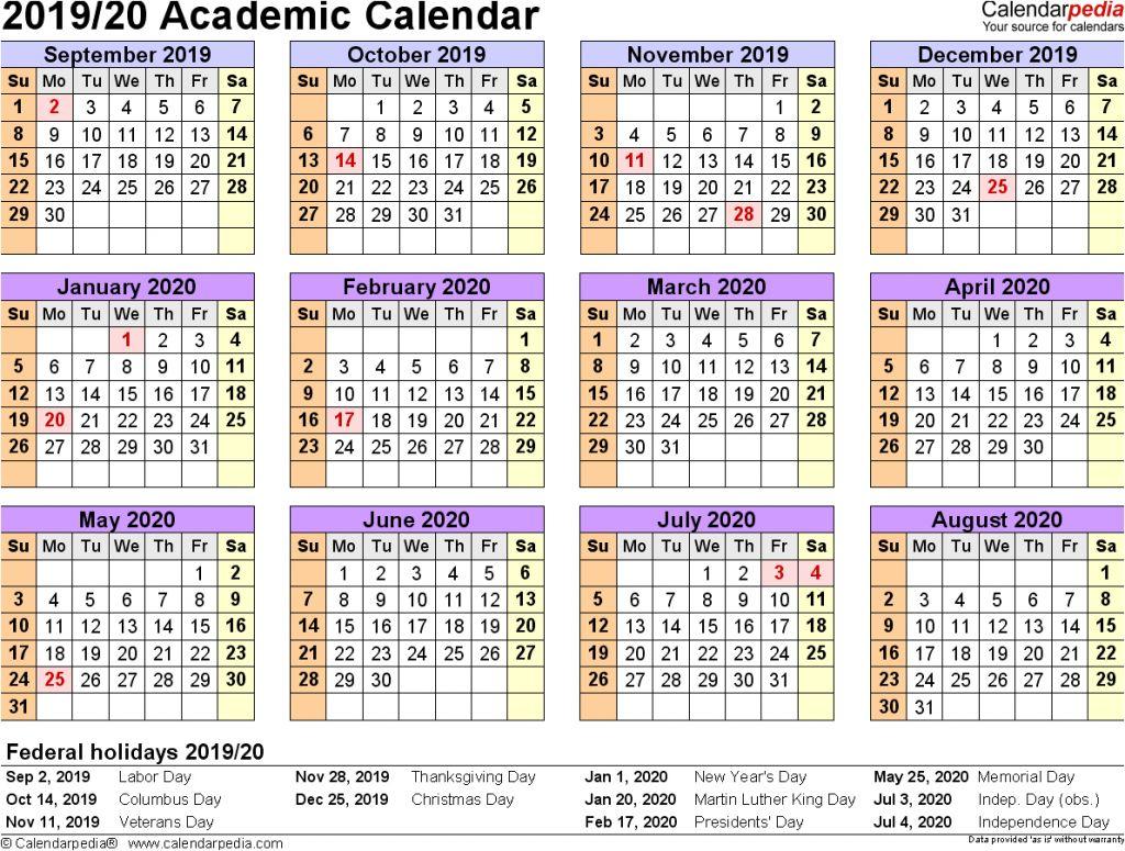 Luxury 25 Sample 2019 2020 Calendar | Blank Calendar Templates