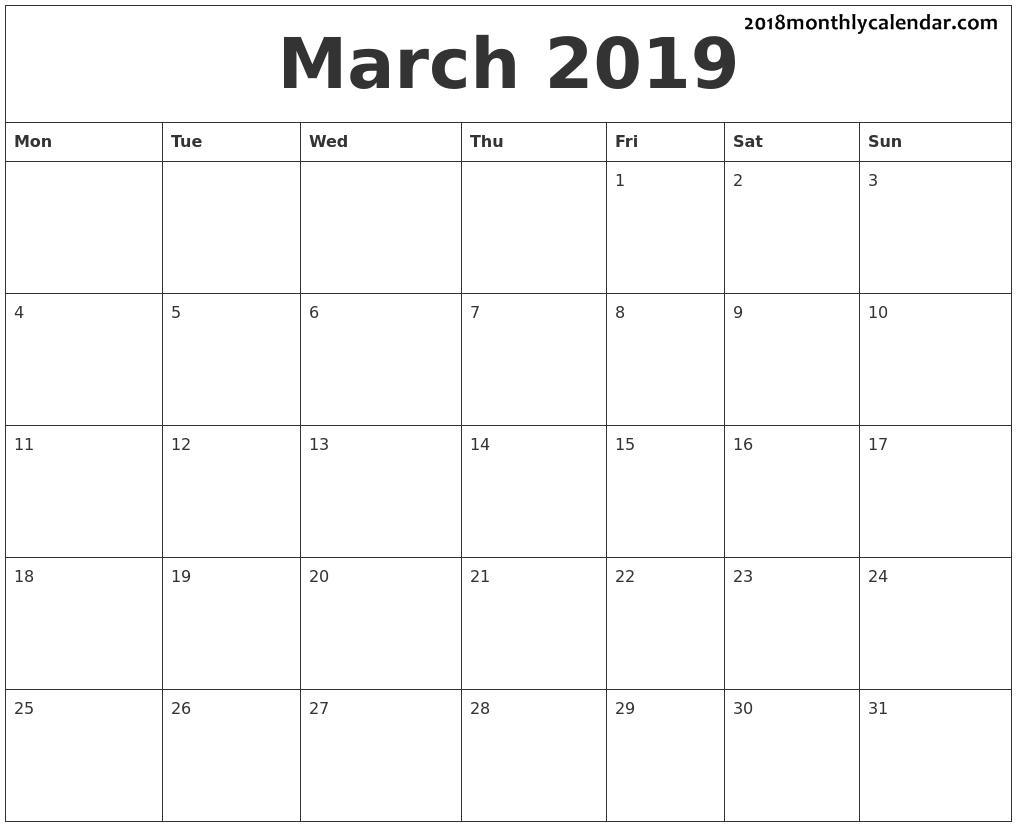 March 2019   Dv   June Calendar Printable, Calendar June