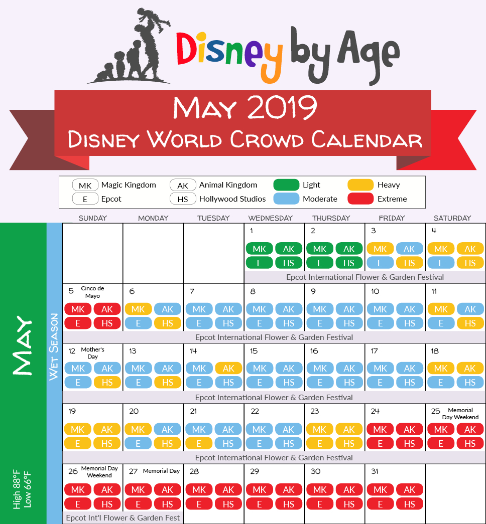 May 2019 Disney World Crowd Calendar | Disney Vacation In