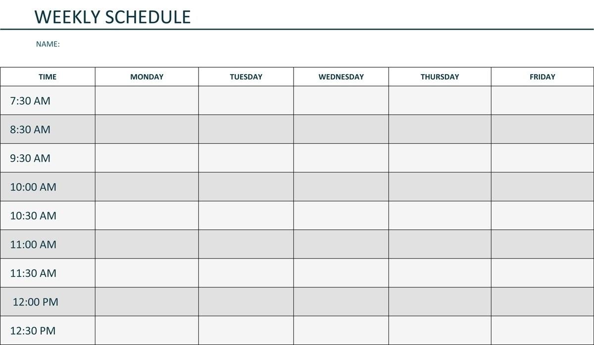 Monday – Sunday Calendar Template | Calendar Printing Example