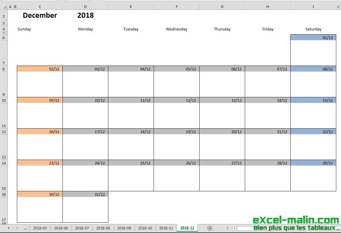 Monthly Calendar Schedule Plate Excel Printable For Malin