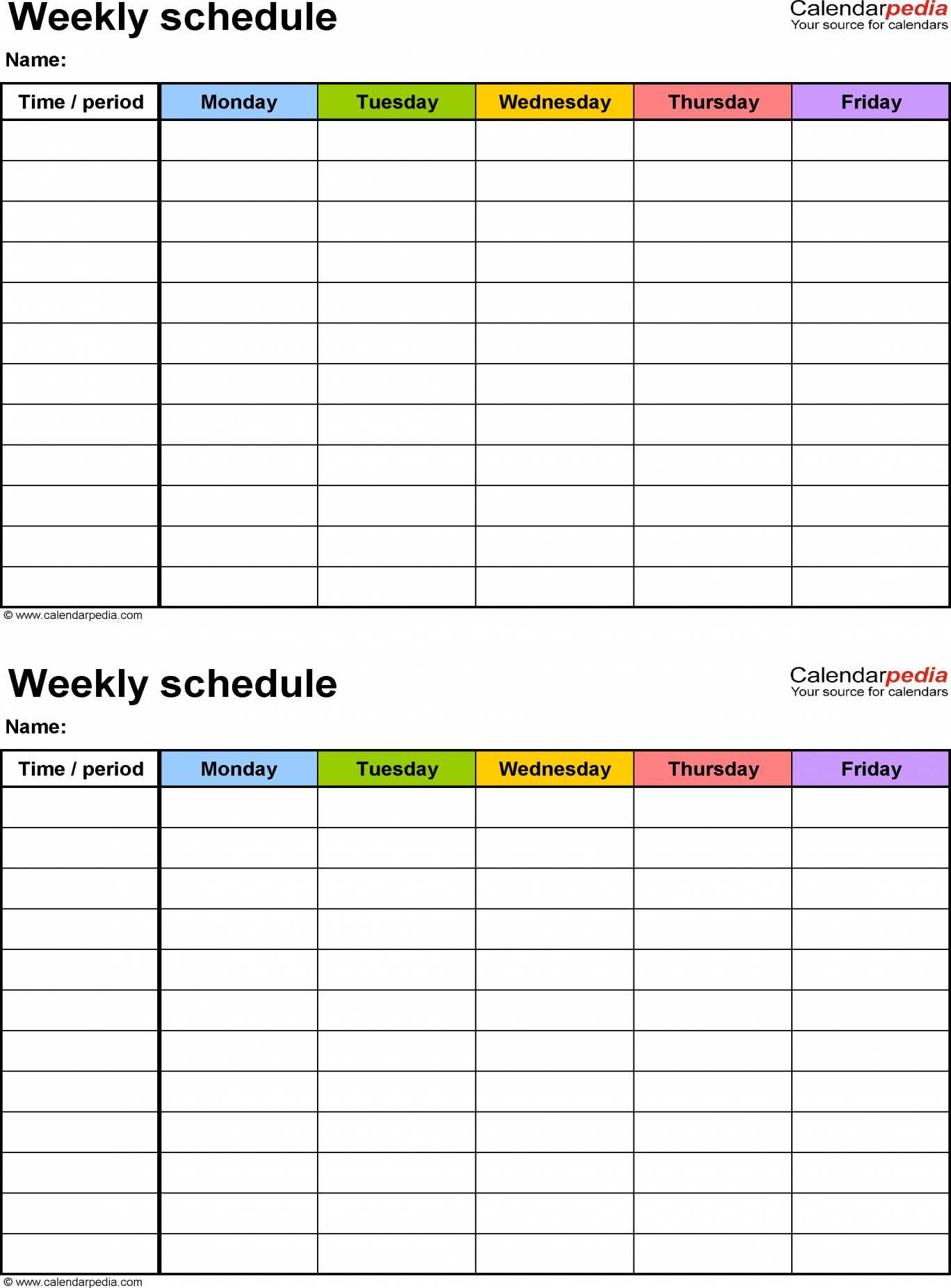 Monthly Calendar Schedule Template Spreadsheet Google Sheets