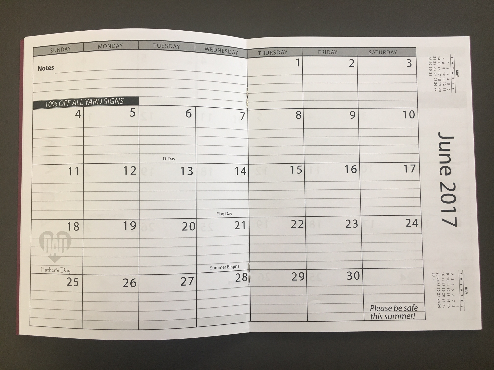 Monthly Planners | Black And White Calendar