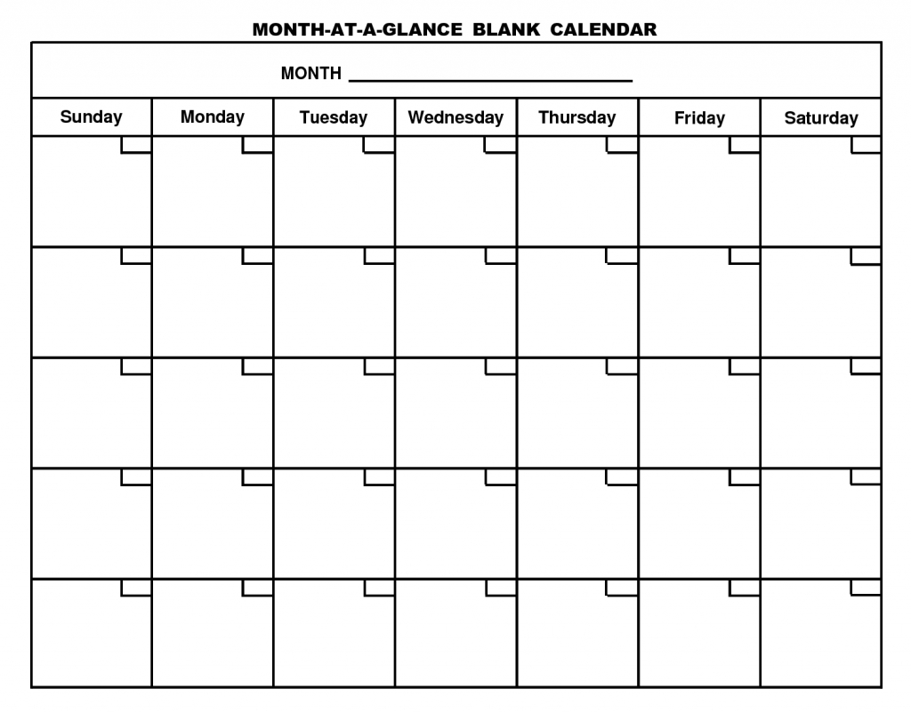 Monthly Schedule Template Blank Calendar Free Printable