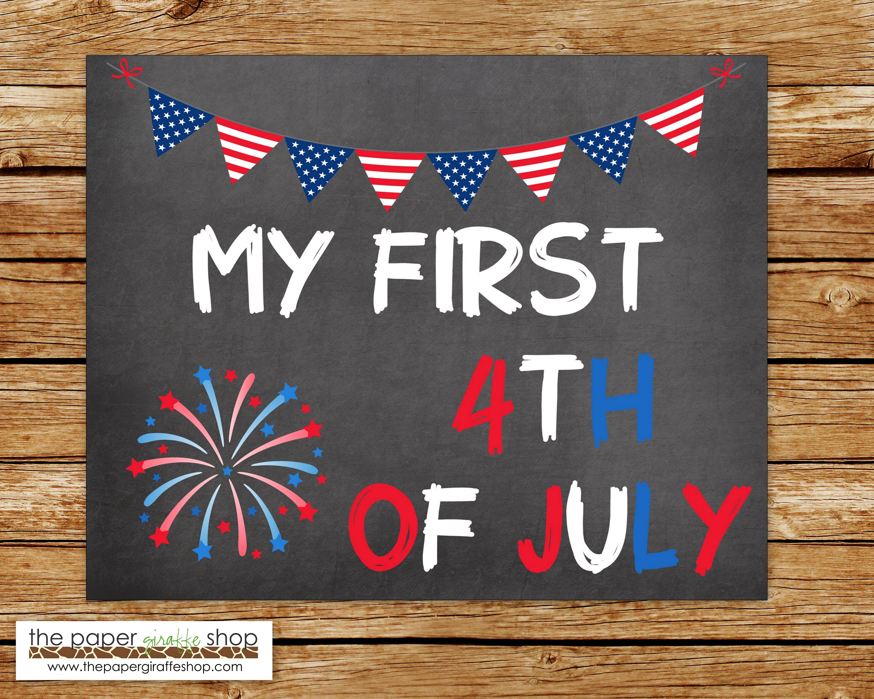 My First 4Th Of July Chalkboard Sign | My First Fourth Of July Chalkboard  Sign | Photo Prop | Baby's First 4Th Of July | Instant Download