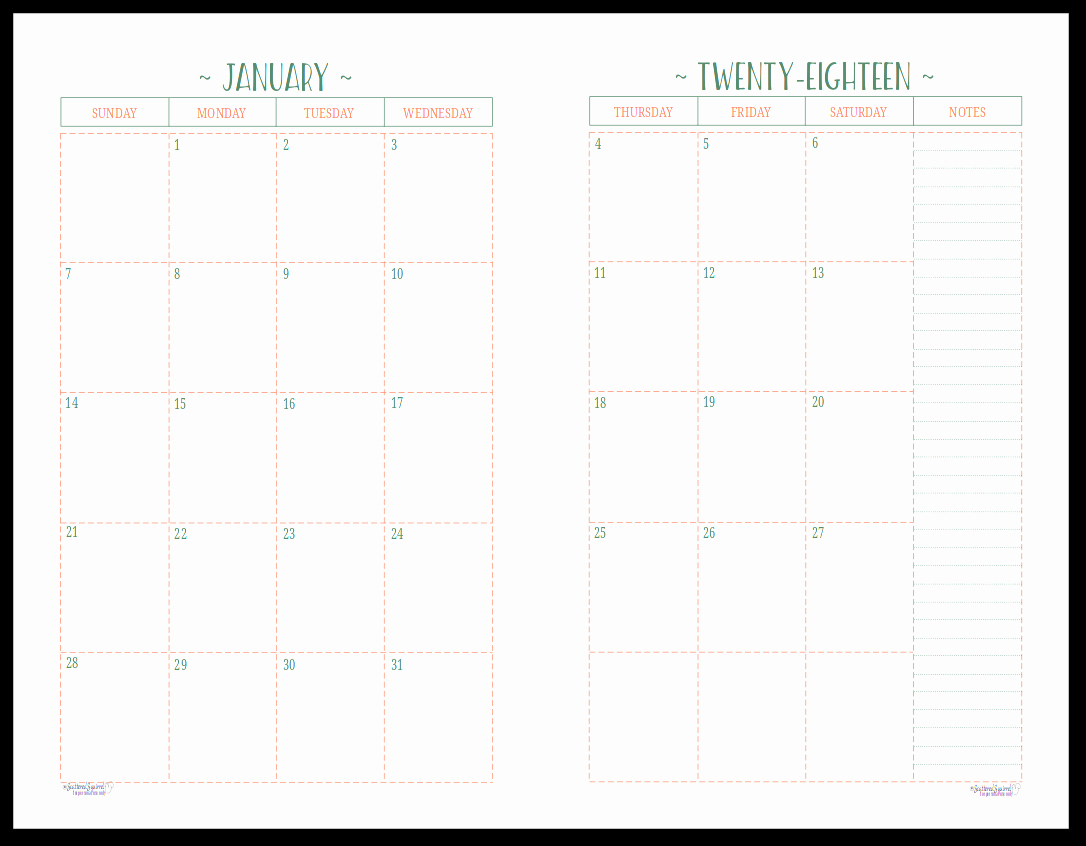 New 35 Examples Monthly Calendar Page Printable