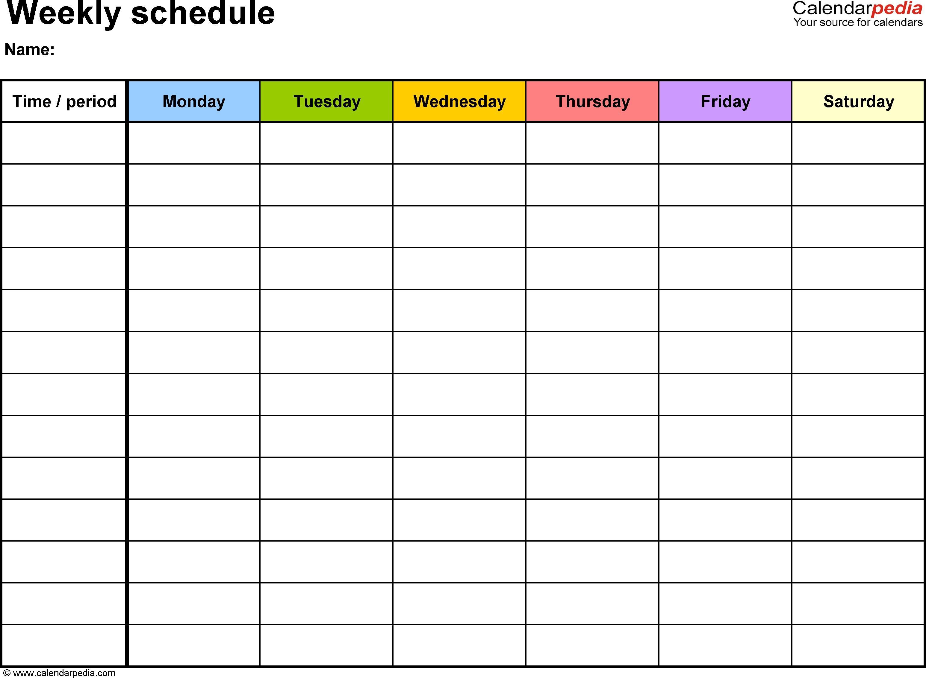 New Printable Monday Through Friday Calendar - Calendar 2019