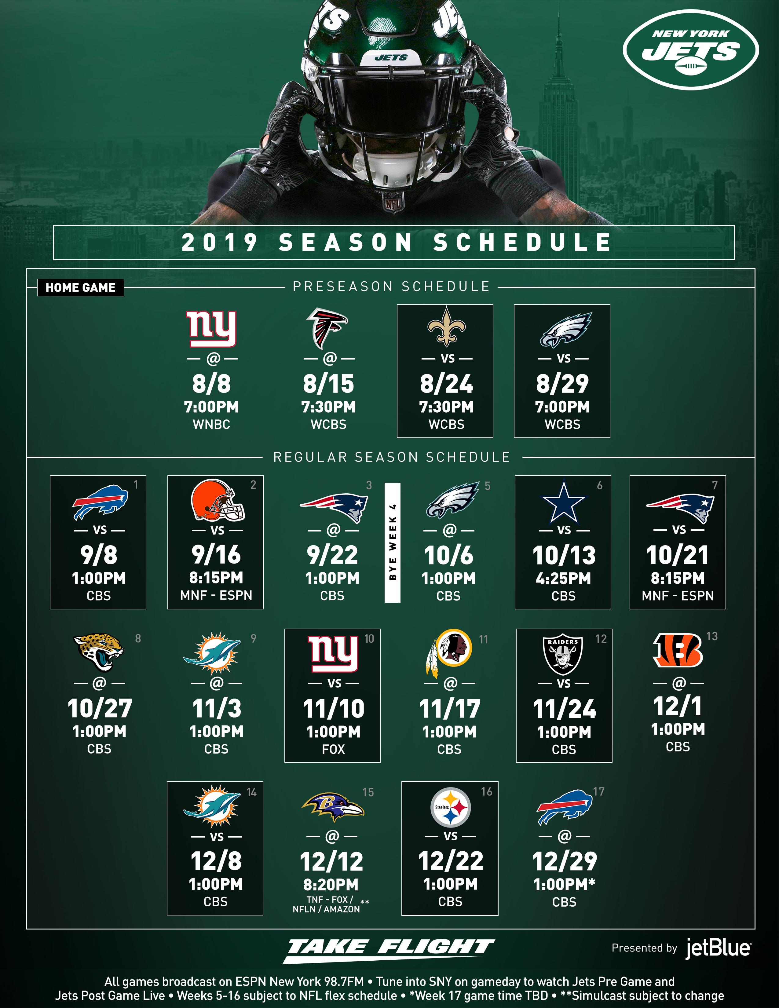 New York Jets | Schedule