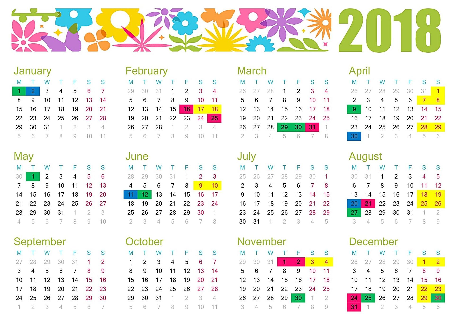November 2018 Holidays Philippines - Free August 2019