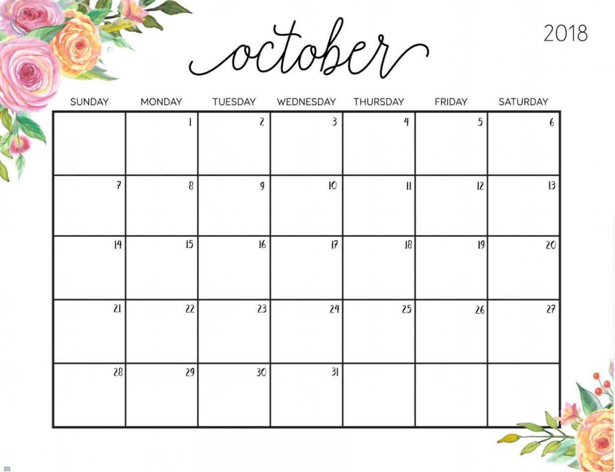 October 2018 Floral Calendar   Calendar 2018   July Calendar