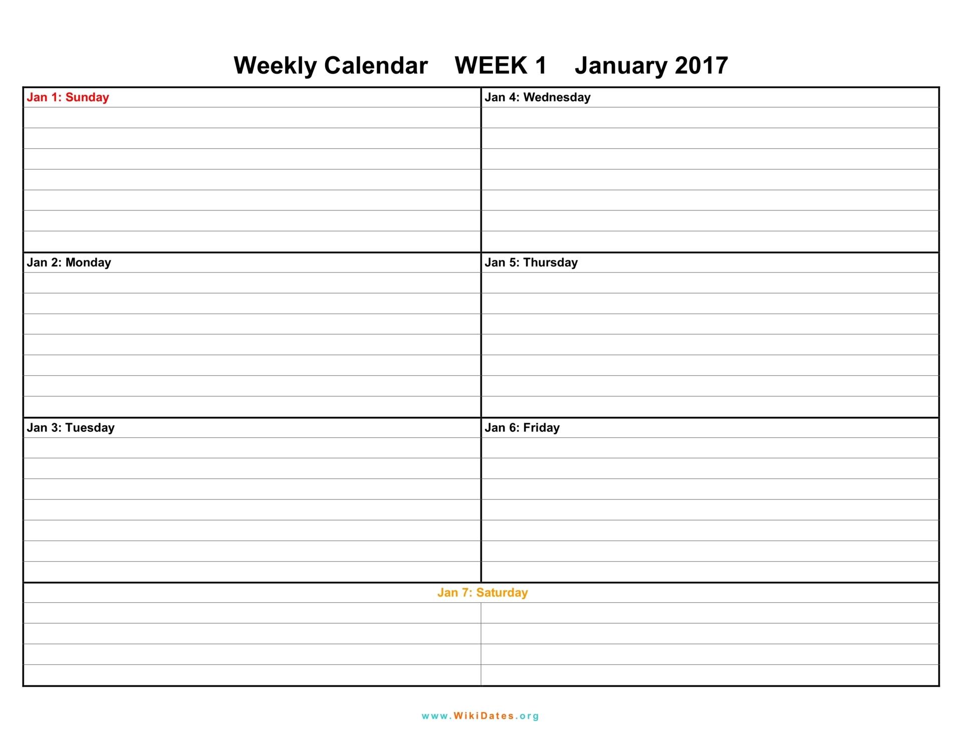 One Week Printable Calendar   Hauck Mansion